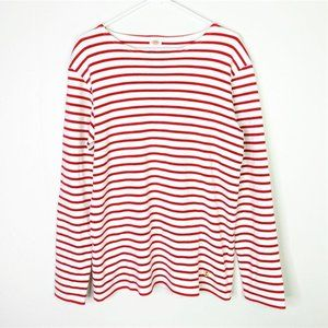 Armor Lux Red Breton Striped Thick Cotton Shirt